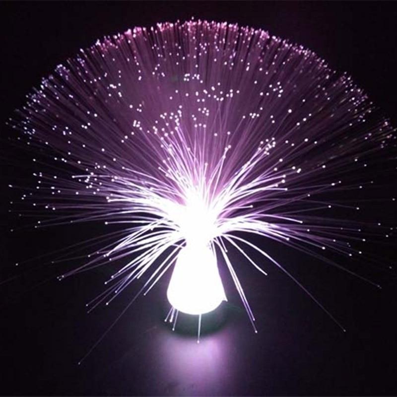 Bella Autismo Calmante Sensoriale Lampada Della Luce LED Multicolore Fibra Ottica Ghiaccio Relax Cambiare