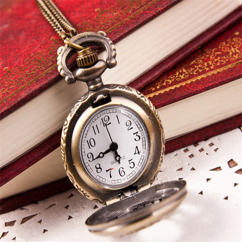 Hot Fashion Vintage Women watch Retro Bronze Quartz Pocket Watch Pendant Chain Necklace  relogio feminino Dropshipping NMZ116 durable fashion pocket watch chain quartz watch vintage retro bronze quartz pocket watches