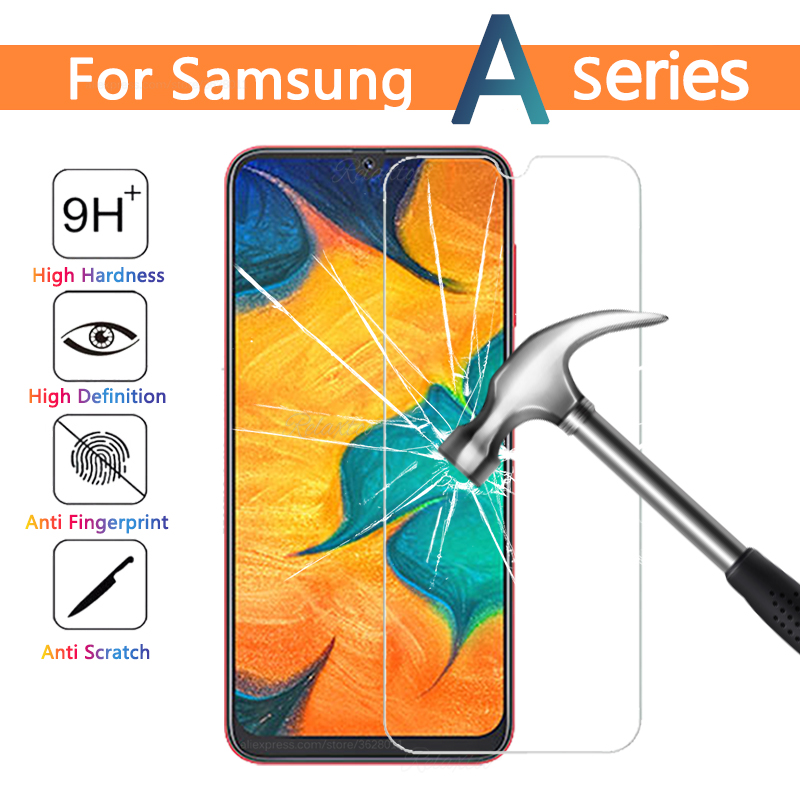 Tempered Glass For Samsung Galaxy A70 A60 A50 A40 A30 A20 A10 Screen Protector Protective Film For Samsung A30 A305F Front Glas