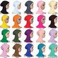 Sob o Chapéu Cachecol Cap Óssea das mulheres Gorro Ninja Tampa Do Pescoço Islâmico Hijab Muçulmano Underscarf Cap Hijab