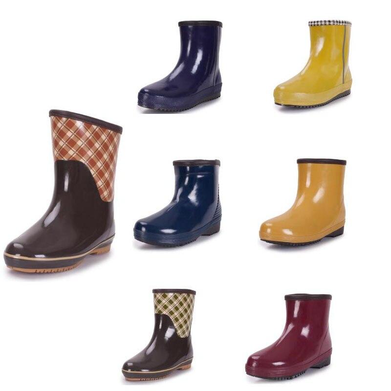 073d4f67838423 Nouveau Femmes Lady Chelsea Courte Pluie Bottes Jardin Chaussures Botte de  Pluie En Caoutchouc pour les Femmes dans Bottes mi-mollets de Chaussures  sur ...