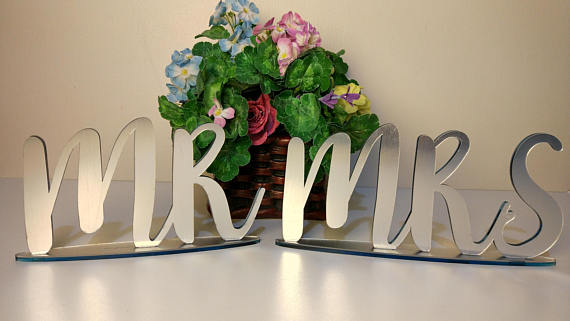 Personalized Mr And Mrs Signs Decor Name Plaque Custom Wedding