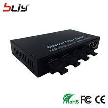 4G3E gigabit de doble fibra monomodo 20 KM de fibra óptica convertidor de medios de fibra de ethernet switch