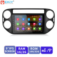 EKIY 9'' IPS Android Car Multimedia Player Auto Radio Stereo For Volkswagen VW Tiguan 2010 2015 With 4G Modem GPS Navigation