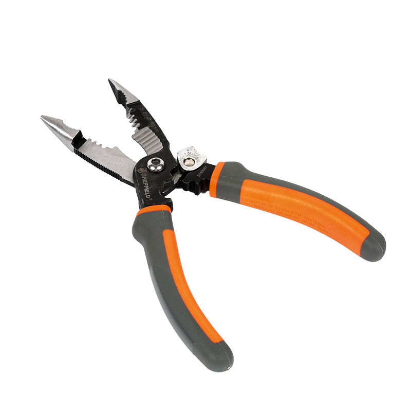 Tools : SHEFFIELD 8 inches 5-in-1 Multifunctional Electrician pliers electrical needle nose pliers Wire Stripper Crimping 5 in 1 pliers