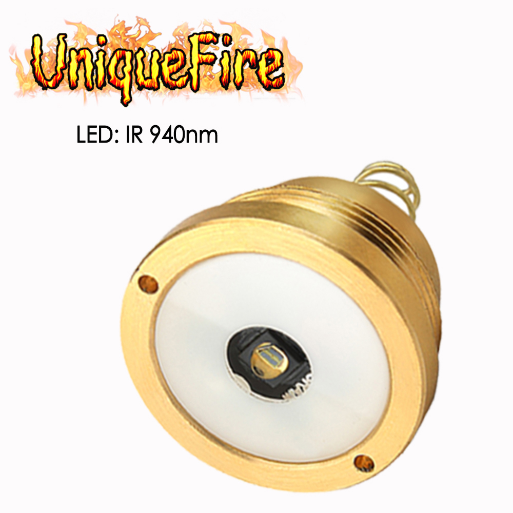 UniqueFire Lamp Holder Drop in IR 940nm LED Pill Changeable Head Module Replacement For T20 Hunting Flashlight Torch