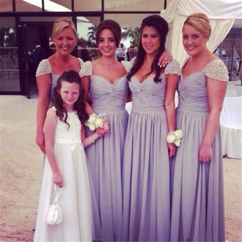 Крышка втулки сексуальный платья с бусины линии шифон свадебные ну вечеринку платья складки дешевой шикарной женщины одеваются Большой размер F805