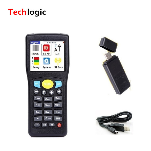Techlogic E0589 Mini Wireless Barcode Scanner Portable Bar Code Scanner Handheld Terminal PDA Inventory Barcode Reader
