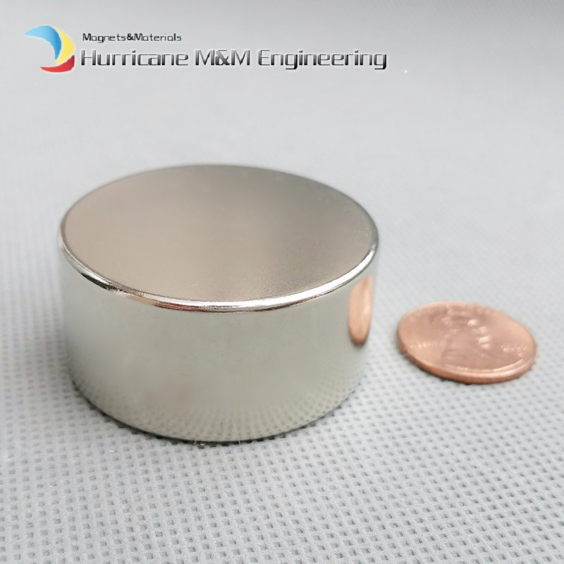 1 PCS Strong NdFeB Round Magnet Dia. 40x20 mm N42 Neodymium 40mm x 20mm Disc Permanent Magnet NiCuNi Plated Axially Magnetized 1 pack dia 4x3 mm jewery magnet ndfeb disc magnet neodymium permanent magnets grade n35 nicuni plated axially magnetized