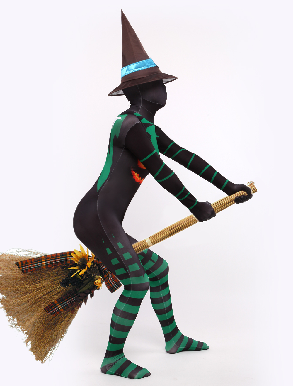 Womens Halloween catsuits witch costumes Lycra Spandex Zentai Suits - yoyosell store