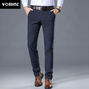Image 1 - VOMINT 2020 New High Quality Mens Elastic Casual Pants Mens Business Dress Slim Jogger Stretch Long Trouser Male Suit Pants