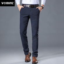 VOMINT 2020 New High Quality Men's Elastic Casual Pants Mens