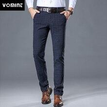 VOMINT 2020 nowy wysokiej jakości męskie elastyczne spodnie dorywczo mężczyzna strój biznesowy Slim Jogger Stretch długie spodnie męski garnitur spodnie
