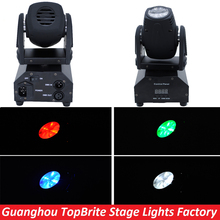 Free Shipping LED Mini Beam  Moving Head Light 1x10W  4in1 RGBW For Home Entertainment Party or Christmas Laser Projector