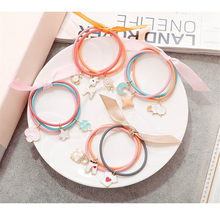 1Pc/lot Cute Cartoon Charms Headbands Ponytail Holder Scrunchies Cute Girls Elastic Hair Bands Rubber Rope Hair Accessories(China)