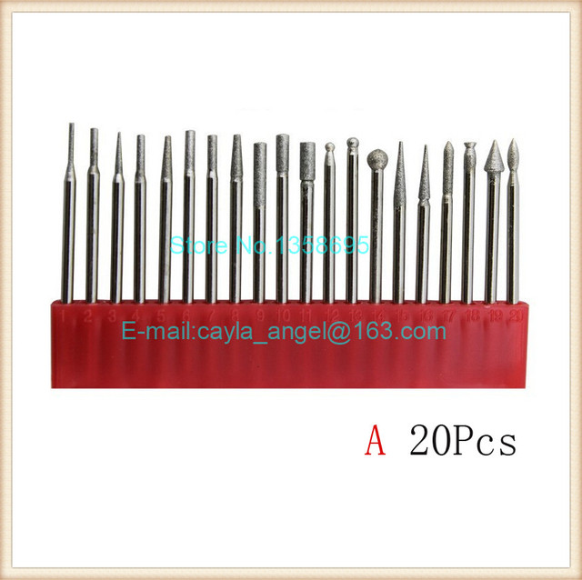 1 Set Diamond Burrs Grinding Needles for Die Grinder Rotary Tool Drill Bit Engraving Needle Polishing Tools Engraver Files