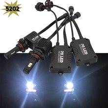 Automotive LED Headlight Bulbs 5202 H16 LUMILEDS LED Conversion Kit 6000k Cool White 12086 9009 PS24W FF PG20-3 Replace HId bulb