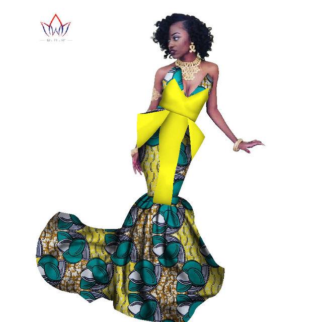 Online Shop Summer Africa Dress For Women Mermaid Long Dresses