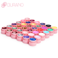 BURANO 36colors gel lacquer gel nail polish uv gel nail art tips shiny cover extension manicure gel nail tools