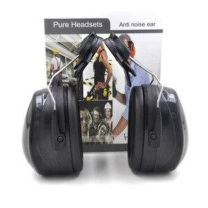 Image 5 - Nuovo Anti rumore On Casco Paraorecchie Protezione orecchie Per Il Casco di Sicurezza Cap Uso Costruzione Della Fabbrica di Sicurezza Sul Lavoro di Protezione Delludito