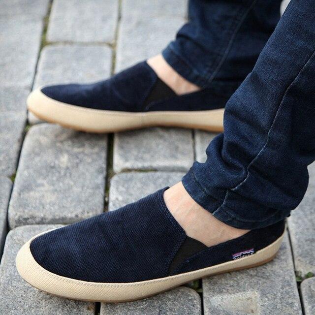 Новый мужчины повседневная обувь человек весна осень Англия Мода Zapato Мокасины Дышащий Поскользнуться на квартиры