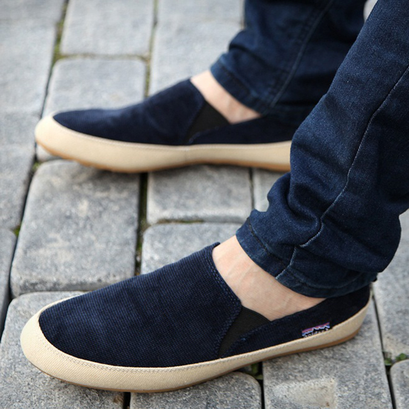 Men Loafers Breathable Canvas Shoes 2017 Top Men'S Flats Slip On Outdoor Shoes Summer Casual Shoes Man