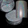 Hot Laser Glitter Prata 0.2mm (N32) 0.1mm (N101) 0.08mm N301 Nails Art Manicure Ponta UV Pó Poeira Nail Dicas Decoração Colorida