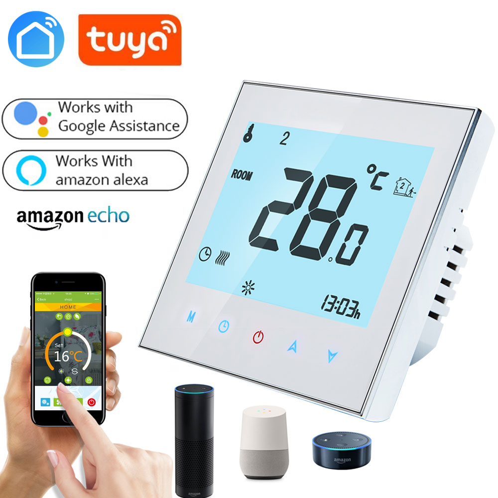 WiFi Thermostat Temperature Controller for Gas Boiler Water Electric floor Heating Water support Google Home Alexa voice control