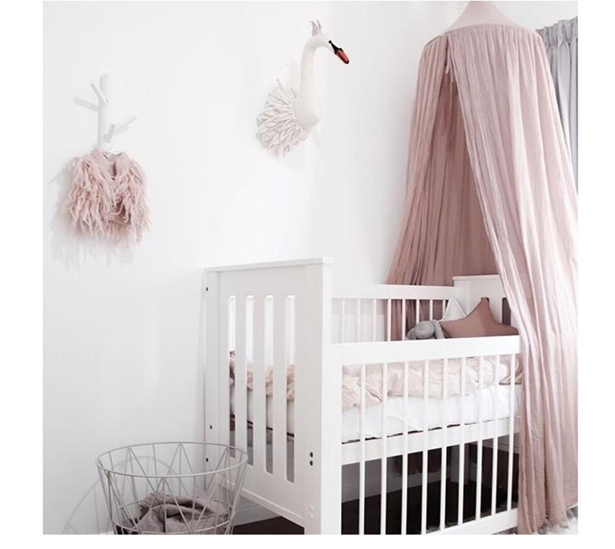 urijk cuna cortina habitacin nios decoracin netting cuna beb de algodn tienda hung dome mosquitera cama