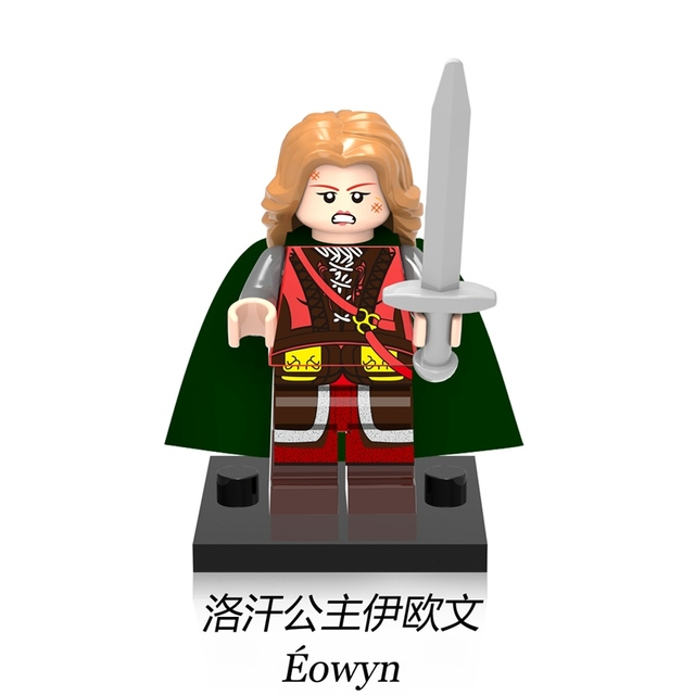 eowyn princess lord of the rings diy figures single legoing white
