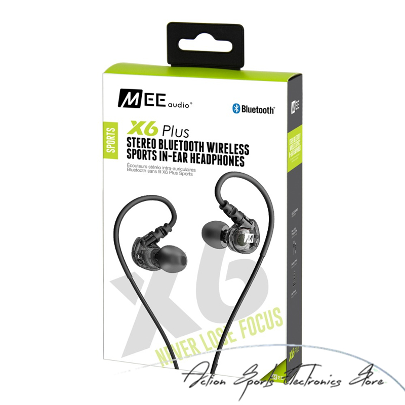 MEE Audio X6 Plus Wireless Earphones Bluetooth Sport Running Earbud Headphone With Mic For Iphone Android In-ear Music Headset wireless bluetooth 4 0 sport headphone in ear earphones super bass music earbud for iphone sony z2 z3 sumsang s6 noise canceling
