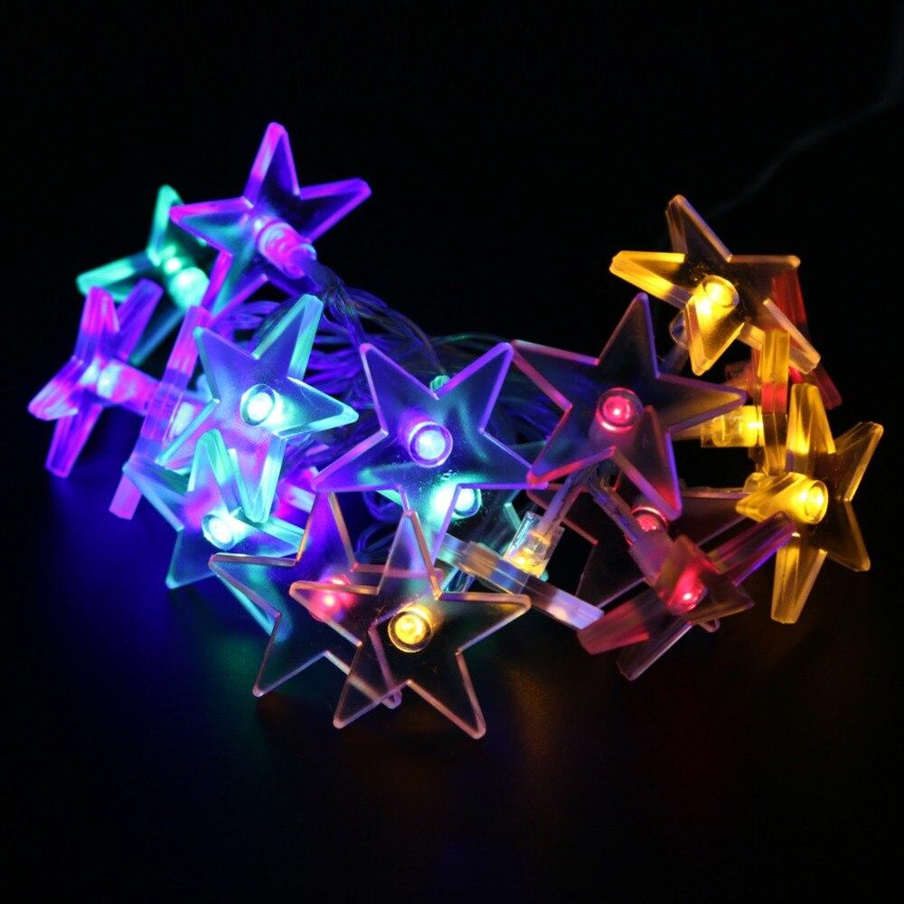 2,3 Mt 20 Led String Lichter Funkeln Sternförmigen Lichterketten Für Hochzeit Festival Geburtstag Party Dekoration Lampe Led-lampen # Lo