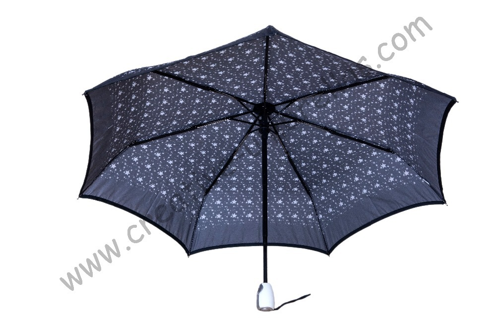 Drop shipping (3pcs/lot)Fully automaticaly 210T Pongee Stars Printed umbrellas,steel shaft Spain parasol,fiberglass U-groove