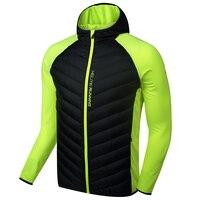 KELME k16r6004 Для мужчин с длинным рукавом Сращивание с капюшоном ветрозащитный Утепленная одежда спортивные Бег имитация Подпушка куртка черны