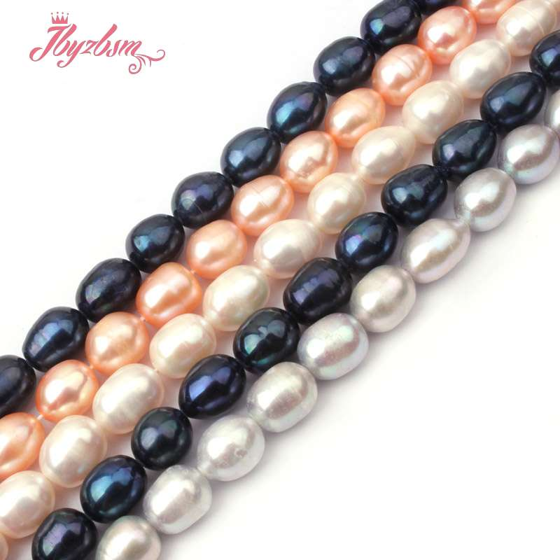 5.5-7mm Nearround Cultured Freshwater Pearl Natural Stone Loose Beads For Diy Necklace Bracelat Jewelry Making 15 Free Shipping Beads & Jewelry Making