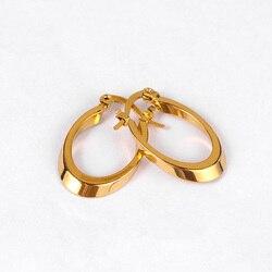 Hoop Stil Oval Geometrik Daire Hoop Küpe Kişilik Charm Altın Renk Yuvarlak Popüler Küpe Kadınlar Takı Için kolczyki