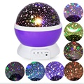 Colorful Night Light Mini Stage Led Lamp Romantic Rotating Star Sky Moon Projector Night Light For Kids Bedroom