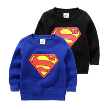 2016 hoodies children super man kids hoodies boys fleece warm pullover sweatshirt kids hoodies boys hoodie