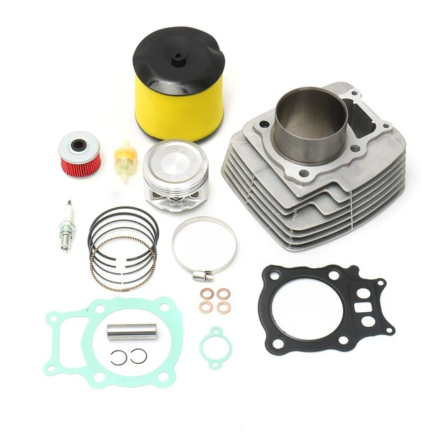 atv cylinder piston for spark plug oil fuel filter for honda rancher