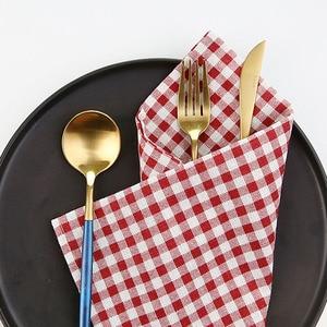 Image 2 - Yüksek Kaliteli Ekose Masa Örtüsü ins Tarzı gıda fotoğraf arka plan bez Tuval Dokuma Kumaş fotoğraf stüdyosu fotoğraf sahne