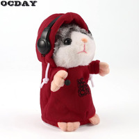 OCDAY Talking Hamster Mouse Pet Plush Toy Cute Speak Talking Sound Record Hamster Educational Animal Toys