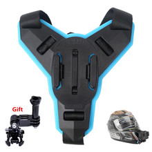 TELESIN Accessories Motorcycle Helmet Strap Mount Front Chin Mount for GoPro Hero7 6/5/4/3, Session, SJCAM, YI Action Camera