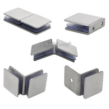 Brand New 8PCS Brushed Stainless Steel Frameless Shower Door Glass Clamps Glass Fixed Holder Brackets for 8~12mm Glass