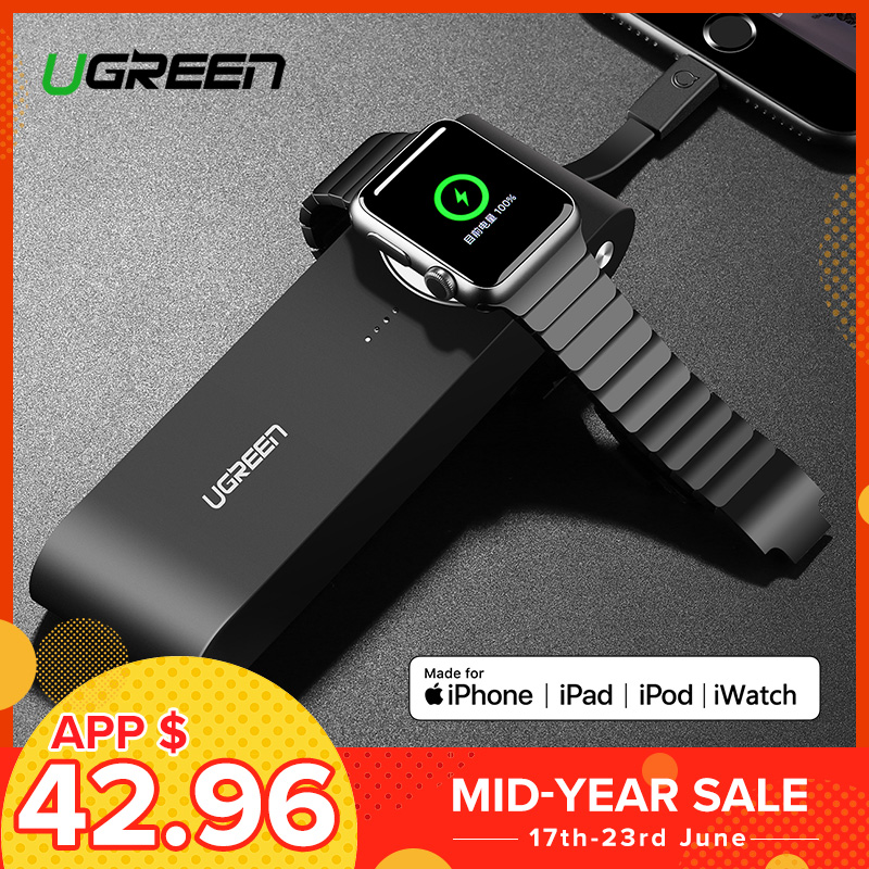 Ugreen chargeur sans fil batterie externe 10050 mAh pour Apple Watch 4/3/2 iPhone 8 chargeur de batterie externe pour téléphones mobiles appauvrbank