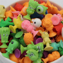 10 PCS/bag good Cupule kids Cartoon Animal Action Figures toys Sucker kids Mini Suction Cup Collector Capsule model