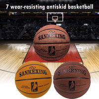 Basketball Leather Ball Outdoor Sport Wear Resistant Cowhide Durable Varsity for SANKWXING New Gift
