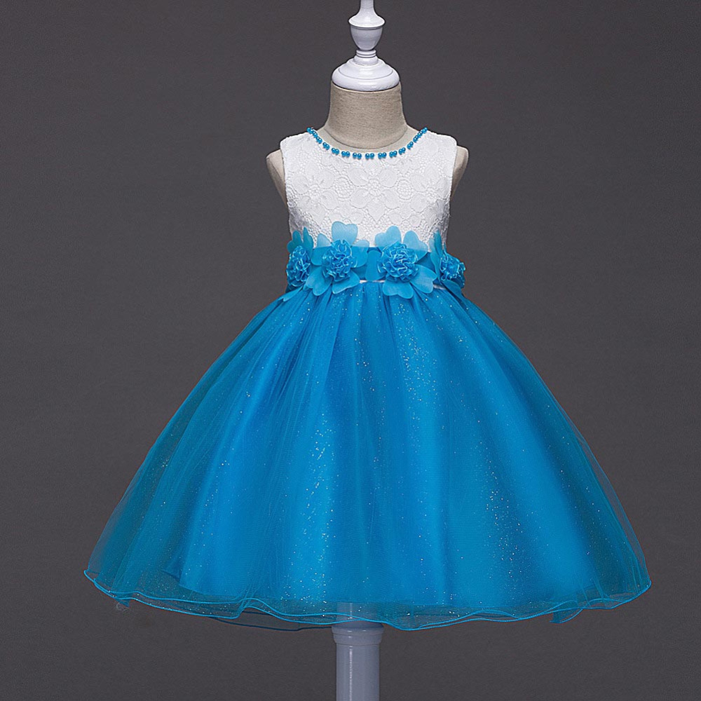 Mottelee Girls Flower Dress Shiny Kids Party Dresses Pageant ...