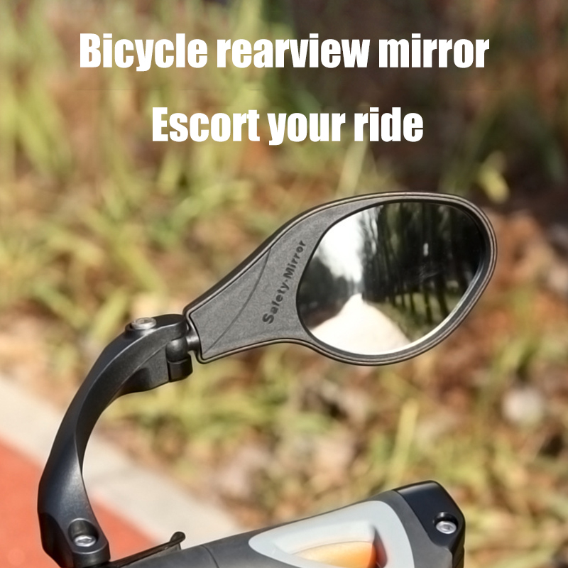 Cycling Bike Rear View Mirror 360-degree Adjustable Reflective Bicycle Handlebar Grip Rearview Glass Bike Accessories