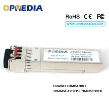 10GBASE ER SFP+ transceiver,10G 1550nm 40km SFP+ optical module with dual LC connector and DDM function,compatible with HuaWei