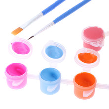12 Colors Textile Fabric Hand Painted Wall Plaster Painting Drawing For Kids Acrylic Paint WaterBrush Pigment Set for Clothing(China)